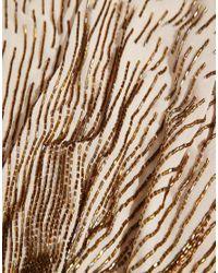 ASOS | Brown Cascade Beaded Capelet | Lyst