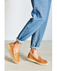 Soludos | Brown Leather Derby Espadrilles | Lyst