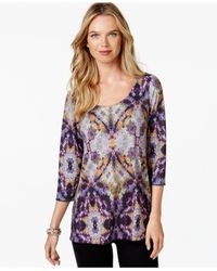 Miraclesuit | Purple Shaping Graphic-print Top | Lyst