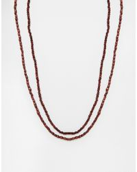 ASOS | Brown Beaded Necklace Pack for Men | Lyst