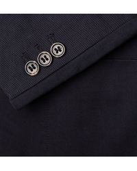 A.P.C. | Blue Navy Cotton-Gabardine Blazer for Men | Lyst