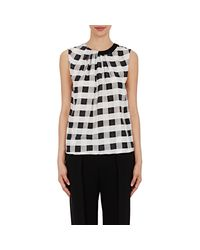 Giorgio Armani - Black Women's Gingham Silk Top - Lyst