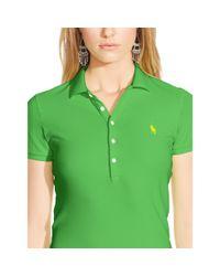 Polo Ralph Lauren - Green Skinny Stretch Polo Shirt - Lyst
