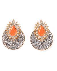 Shourouk - Orange 'Luna Comet' Clip-On Earrings - Lyst