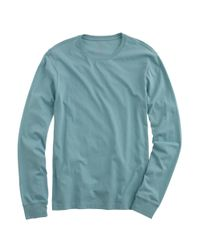 J.Crew | Green Slim Broken-in Long-sleeve T-shirt for Men | Lyst