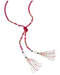 INC International Concepts - Pink Gold-tone Colorful Bead Lariat Necklace - Lyst