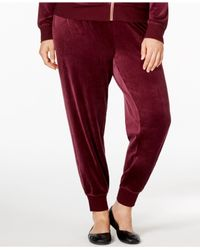 Calvin Klein | Purple Plus Size Velour Jogger Pants | Lyst