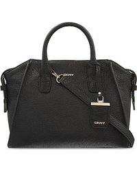 DKNY | Black Chelsea Medium Leather Satchel | Lyst