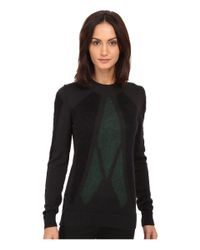 CoSTUME NATIONAL - Green Knitted Sweater - Lyst