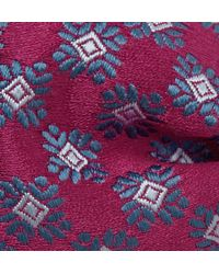 Charvet   Purple Patterned Silk-Satin Bow Tie for Men   Lyst