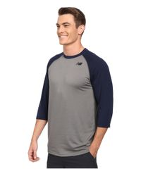 New Balance | Blue 3/4 Raglan for Men | Lyst