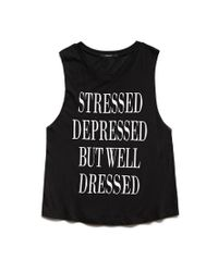 Forever 21 - Black Well Dressed Muscle Tee - Lyst