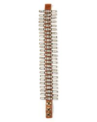 Banana Republic | Metallic Leather Baguette Line Bracelet | Lyst
