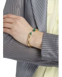 Vita Fede - Green Mini Titan Gold Tone Embellished Bangle - Lyst