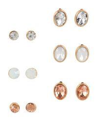 Aéropostale   Multicolor Circle & Oval Stud Earring 6-pack   Lyst