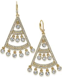 Kate Spade | Metallic Gold-tone Stone Chandelier Earrings | Lyst