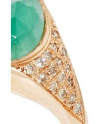 Jacquie Aiche - Green Pave Emerald Teardrop She-Ra Ring - Lyst