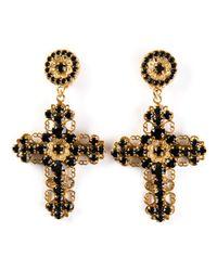 Dolce & Gabbana | Metallic Cross Clip On Earrings | Lyst