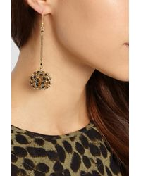 Rosantica - Metallic Soffioni Gold-Dipped Onyx Drop Earrings - Lyst