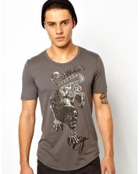 Elvis Jesus - Gray Tshirt Power for Men - Lyst