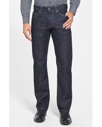 BOSS | Blue 'maine' Straight Leg Jeans for Men | Lyst