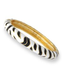 Kenneth Jay Lane | Black And White Tiger Print Bangle | Lyst