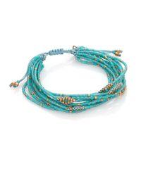 Chan Luu | Blue Beaded Cord Multi-Strand Bracelet | Lyst