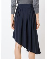 Unconditional - Blue Asymmetric Pleated Skirt - Lyst