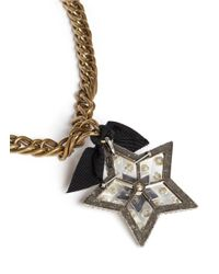 Lanvin | Metallic Crystal Embellished Star Pendant Necklace | Lyst