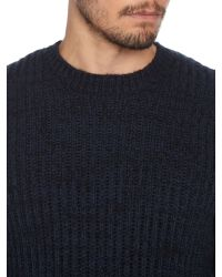 Label Lab | Blue Dean Multicoloured Crew Neck Jumper for Men | Lyst