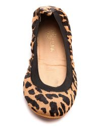 Yosi Samra - Multicolor Classic Fold-Up Leopard-Print Calf Hair Ballet Flats - Lyst