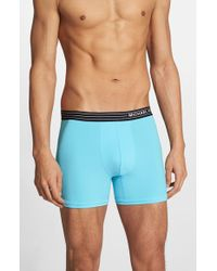 Michael Kors | Blue Microfiber Boxer Briefs for Men | Lyst