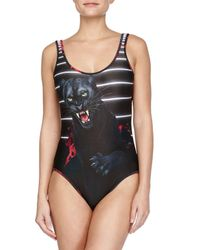 We Are Handsome - Multicolor The Avenger Jaguar-print Scoop One-piece Swimsuit - Lyst