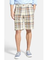 Tailor Vintage | Green 'grove Madras' Reversible Shorts for Men | Lyst