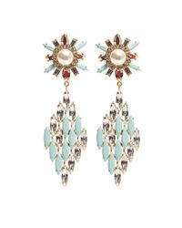 Shourouk - Blue Cobra Earrings - Lyst