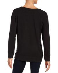 Lord & Taylor | Black Knit Sweatshirt | Lyst