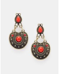ASOS - Red Traveller Earrings - Lyst