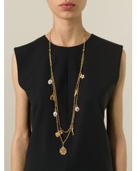Dolce & Gabbana | Metallic Long Charm Necklace | Lyst