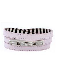Henri Bendel | Pink Debutante Triple Wrap Bracelet | Lyst