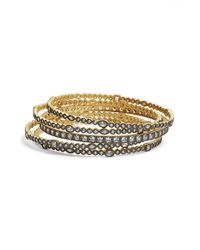 Freida Rothman - Metallic 'visionary' Stackable Bangles (set Of 5) - Lyst