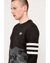 Adidas Originals | Quarterback Snow Panel Black Tee for Men | Lyst