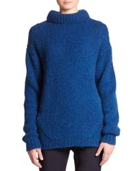 Tibi - Blue Roll-neck Pullover Sweater - Lyst