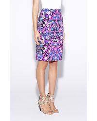 Nicole Miller | Multicolor Carter Terraform Skirt | Lyst