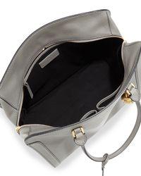 Alexander McQueen - Gray Medium Padlock Satchel Bag - Lyst