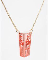 Tatty Devine - Red Popcorn Box Necklace - Lyst