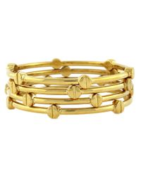 Vince Camuto | Metallic Goldtone Nail Head Bangle Set | Lyst