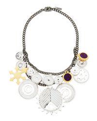 Eddie Borgo | Metallic Tricolor Challenge Necklace | Lyst