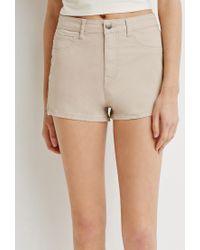 Forever 21 | Brown Zippered Denim Shorts | Lyst