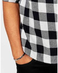 ASOS - Metallic Silver Bangle With Screw Ends for Men - Lyst