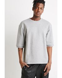 Forever 21 | Gray French Terry Sweatshirt for Men | Lyst